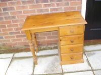 SOLID PINE DESK WAS £300 NEW NOW £40