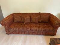 Duresta large sofa and matching armchair, great condition