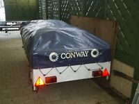 outer cover from conway contiki trailer tent may fit others with kitchen attatched (size 8ft x 4ft)