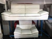 New / Ex Display Prestwood Leather 3 Seater Sofa + Prestwood Chair