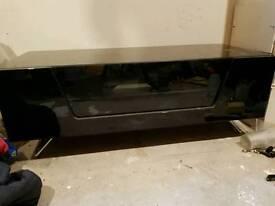 Alphason Black glass tv cabinet