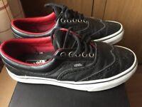 Vans Leather, Trainers Black - Size U.K. 5