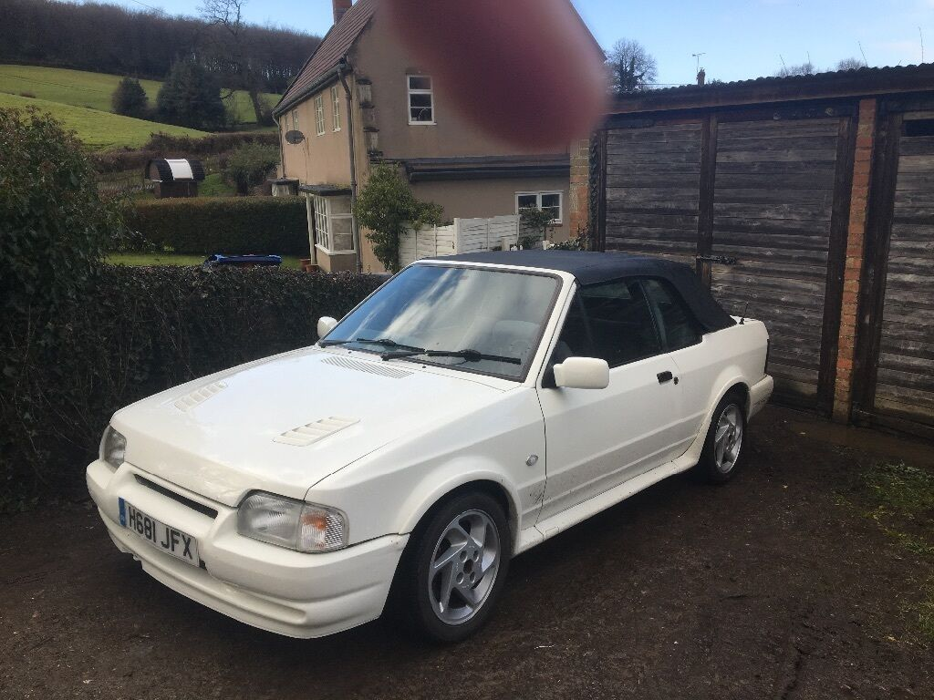 ford escort cabriolet mk4 rs turbo not mk3 turbo full rs kit 90 spec recaps not sierra vw 20v. Black Bedroom Furniture Sets. Home Design Ideas