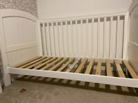 Used Boori three way cot/cotbed suitable from 9months to upto five years