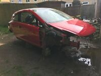 Vauxhall Corsa D VXR 07 Red Bare Stripped Shell Chassis HPI Clear