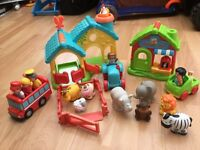 Happyland collection - Farm, Vets, Wild Animals and School Bus