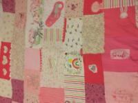 Handmade memory blanket, handmade with love! Introductory price of £45