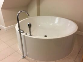 Freestanding Bathtub plus all Taps - Vitra 1600mm Cylindrical / Circular Bath