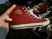 Sizes three. High top. Plimsols. Sneakers. As new