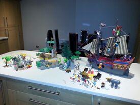 Playmobil Pirate Ship, Desert Island and Farm
