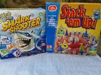 Hungry Frongs, Stack em Up and Shark shooter board games