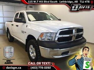 Used 2014 Ram 1500 4WD Quad Cab ST-40/20/40 Split Bench Seat, 6f