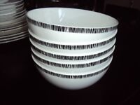 DENBY by BETTY JACKSON BLACK - 5 x DESERT BOWLS 2 x SMALL BOWLS used and in good condition,