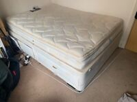 Silent Night Double bed - 1.8m x 1.2m x 42 cm with drawers