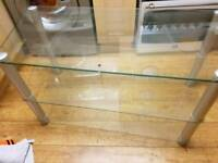 Clear Glass Tv Unit! *QUICK SALE*