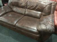 As new Leather Hyde 2 seater sofa
