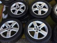 "16"" GENUINE GOLF MK5 MK6 SHARAN PASSAT ALLOY WHEELS SET OF 4"