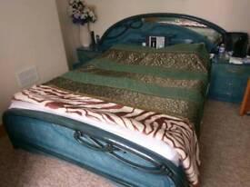 Bedroom set ( king size bed, side table, wardrobe, dressing table)