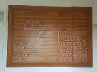 Amazing solid oak carved notice board HUGE very unusual with lettering inserts