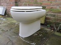 Back to wall white toilet and seat