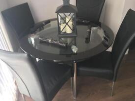 Glass table & chairs £120