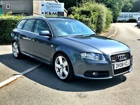 2008 Audi A4 Avant 2.0 TDI S line, Stunning car with only 69k, Finance available