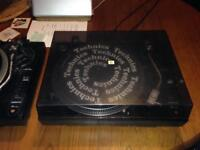 Pair of DJ turntables / decks with new cartridges and needles