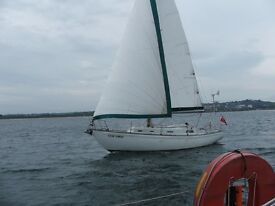 Rival 32 sailing yacht, lying afloat at Inverness, Scotland, for sale/swap/part exchange.