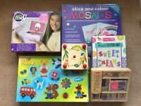 Selection of 6 art and craft sets for children