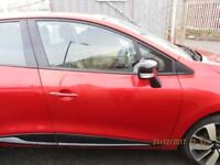 2013 RENAULT CLIO MK4 DOOR FRONT DRIVER SIDE RIGHT RED TENNP COMPLETE #9276