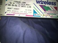 Sunday wireless ticket