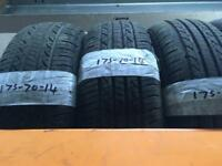 175/70/14 PART WORN TYRES ** FREE FITTING AND BALANCING **
