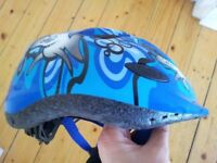child's bike helmet & willies, size 10.5 (Clarks)