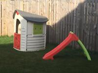 Smoby playhouse AND slide set