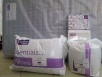 double mattress 2 pillows 10.5 duvet and duvet cover in original packaging unopened all new.