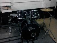 Gretch Blackhawk drum kit with cymbals