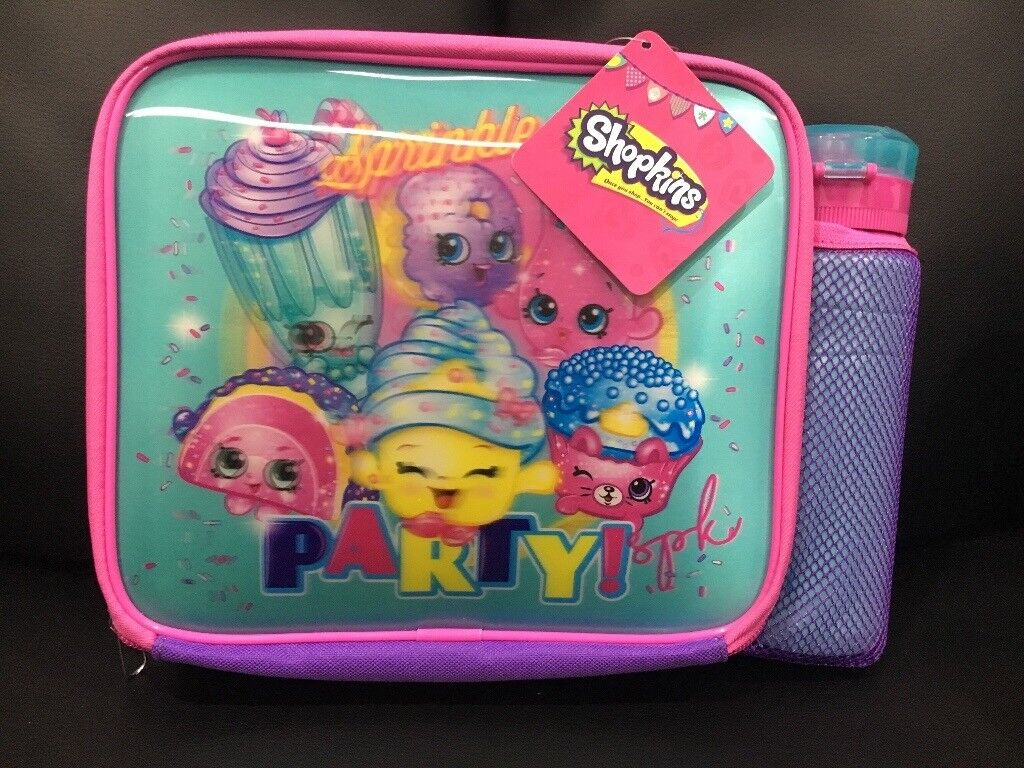 Brand new***Shopkins lunch bag and water bottle