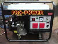 (N) 2.4KW (240V ONLY) PRO-POWER FOUR STROKE PETROL GENERATOR WITH LOW OIL AUTO SHUTDOWN,BRAND NEW