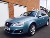 2009 09 Seat Exeo ST Estate 2.0 TDI CR Low Miles 89k FSH++Immaculate nt a4 avant touring 320d passat
