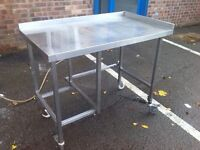 Stainless Steel Table Catering Equipment,Work Bench 120cmx70cmx Height 92cm