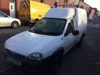 Vauxhall combo 1.7d diesel van 1 owner, 12 MONTHS MOT & TAX, Low mileage