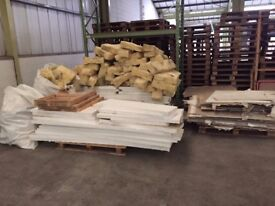 Large Lot of Timber, Insulation, Grille Partitioning and Board