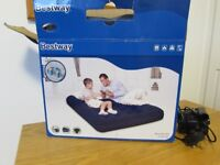 Bestway Flocked double airbed with sidewinder pump , used once