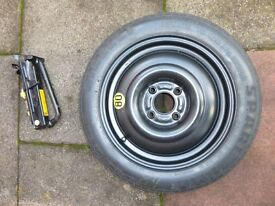 Space Saver Wheel with Pirelli 125/80 R15 (unused) plus Tools