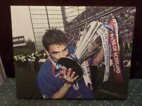 Nacho Novo (Glasgow Rangers) Canvas Framed Picture - Helicopter Sunday