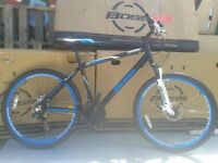 "NEW Boss Reactor Mens Mountain Bike 18"" Hard Tail Hydraulics RRP £379"