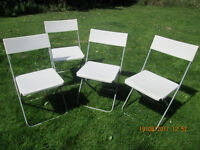 Folding plastic chairs x 4, Ikea