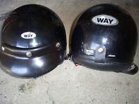 2x Motorcycle Helmets Open Face