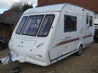 elddis odyssey 432 2002 2 berth caravan in excellent condition with motor mover