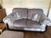 2 seater sofa and extra large swivel chair with stool scs Exc cond